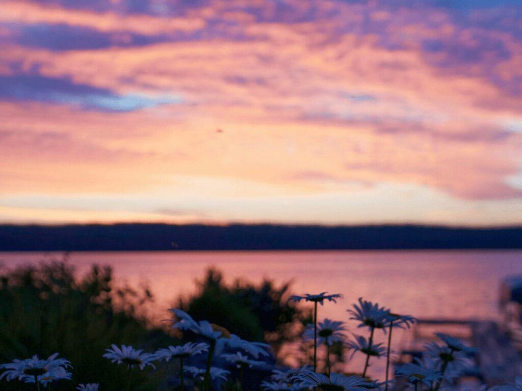 Sunrise over lake- summer bucket list