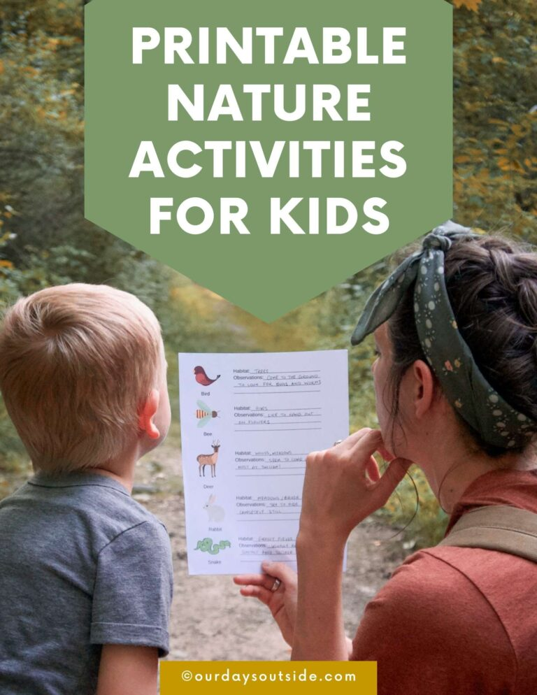 Printable Nature Activities For Kids