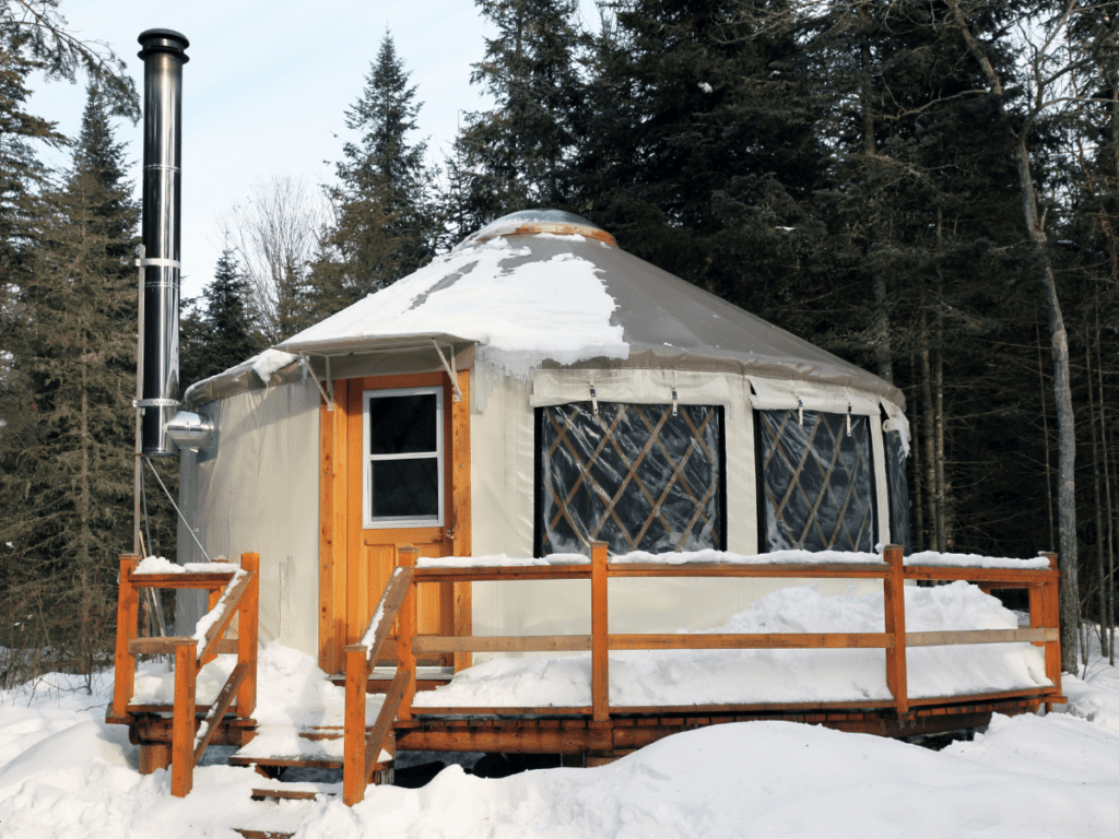 Yurt in the winter time